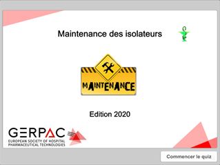 Maintenance isolateur 2020